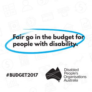 A fair go in the budget for people with disability