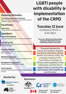 COSP CRPD LGBTI Event Flyer