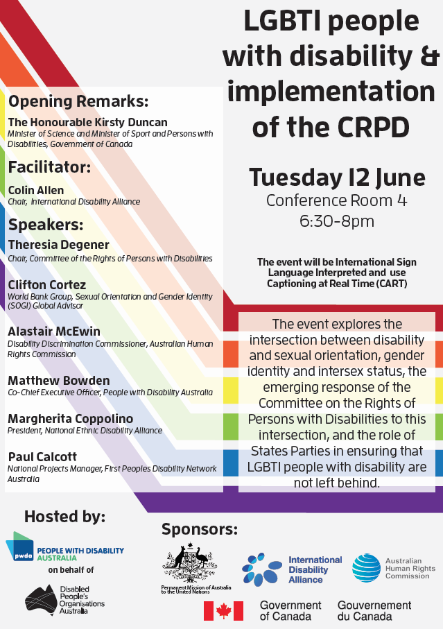 COSP CRPD LGBTI Event Flyer